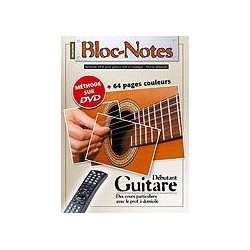 Bloc Notes Débutant Guitare Acoustique avec DVD