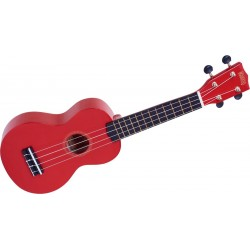 MR1-RD Ukulele Soprano rouge brillant + housse
