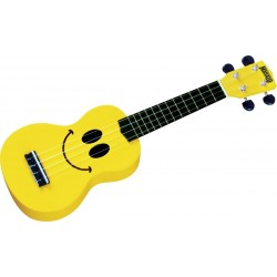 U-SMILE Ukulele Soprano Jaune Smiley + Housse