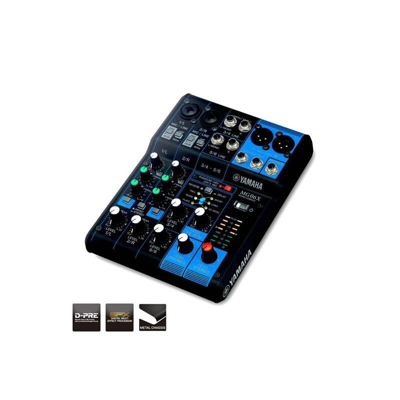 Yamaha mg 06x console analogique 6 entr es audio for Table de mixage yamaha 6 pistes