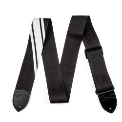 Fender Competition Stripe Strap Black and Silver