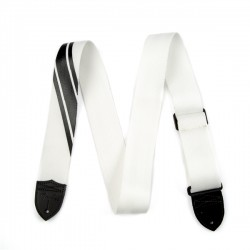 Fender Competition Stripe Strap White and BlacK