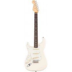 American Pro Stratocaster Gaucher RW Olympic White