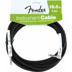 Performance Series Instrument Cable 18.6' Angled Black