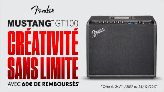 Fender Mustang 100: 60€ remboursé par Fender