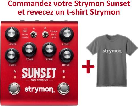 Une Strymon Sunset achetée, un t-shirt Strymon Offert