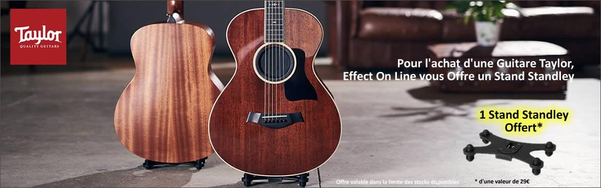 Une Guitare Taylor Achetée, un stand Standley Offert
