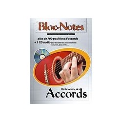 Bloc Notes Dictionnaire des Accords avec CD