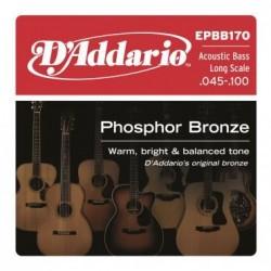 EPBB-170 Jeu Bass Acoustique Phosphor Bronze 45-100 Long Scale