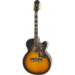 EJ-200CE Vintage Sunburst Accastillage Or