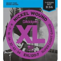EXL-120-7 Jeu 7 cordes Nickel Extra Light