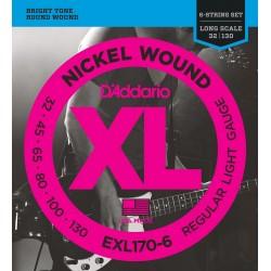 EXL-170 6 Jeu 6 CORDES Soft filé rond nickel