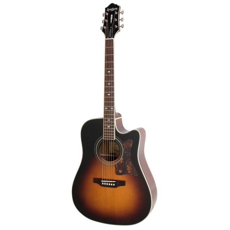 epiphone dr 500mce masterbuilt vintage sunurst guitare. Black Bedroom Furniture Sets. Home Design Ideas
