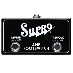 SUPRO DUAL FOOTSWITCH TREMOLO & REVERB ON/OFF REMOTE
