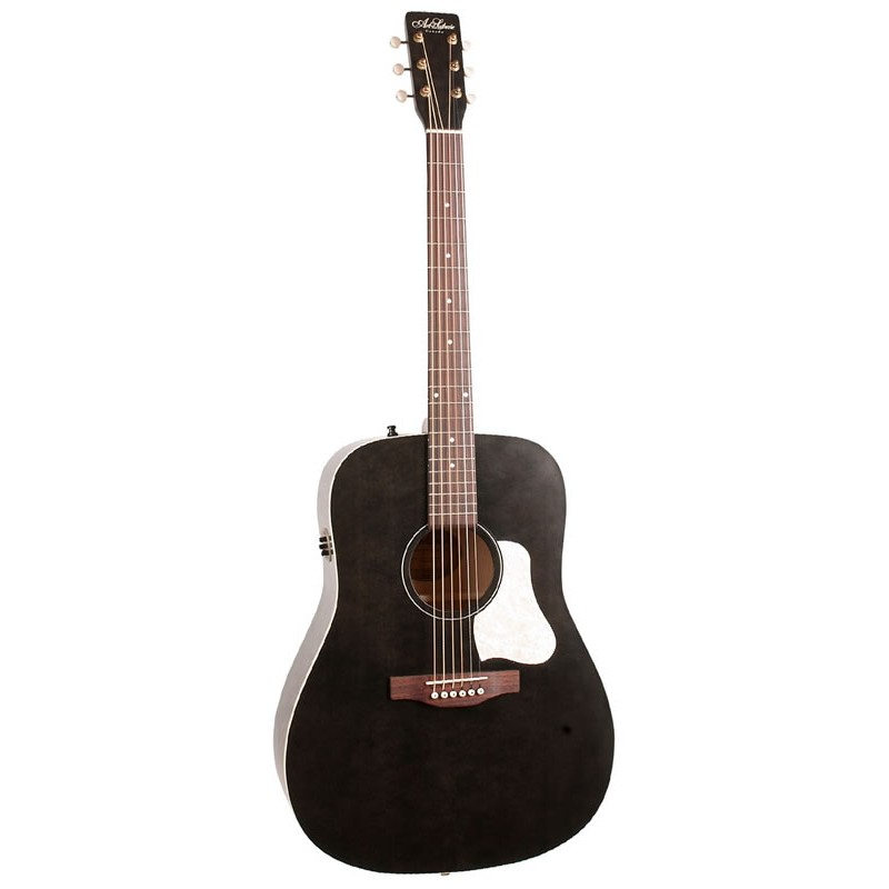 Art Et Lutherie Americana Dreadnought Qit: Art & Lutherie Americana Faded Black Q1T