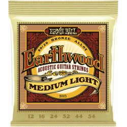 Ernie ball Jeu Earthwood 12-54