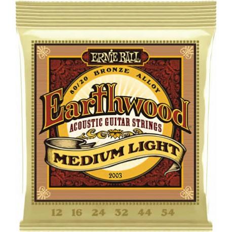 Ernie ball Jeu Earthwood 12-54
