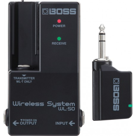 Boss WL-50 Wireless Guitar System for Pedalboard Integration