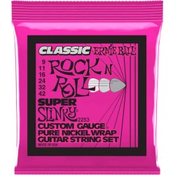 Ernie Ball 2253 Pure Nickel Super Slinky 9-42