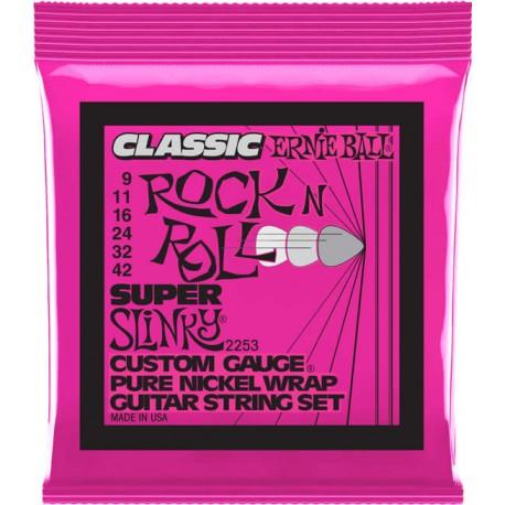 Ernie Ball 2253 Pure Nickel Super Slinky 9-42