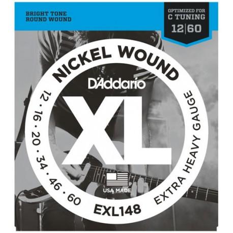 D'Addario EXL-148 Jeu Nickel Extra Heavy 012-060