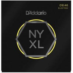 D'Addario NYXL0946 Nickel Wound Super Light Top Regular Bottom 09-46