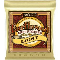 Ernie Ball Jeu de Cordes Earthwood Acoustic Light 11-52