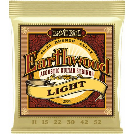 Ernie Ball Jeu de Cordes Earthwood Acoustic Light 11-52