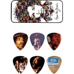 Dunlop 6 Médiators Jimi Hendrix Hear my Music