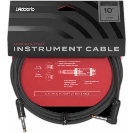 American Stage Instrument Cable Coudé/Droit 3 Mètres