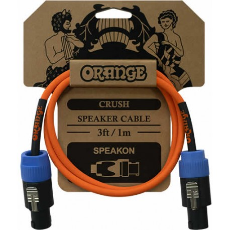 Orange Câble HP Speakon/Speakon 90cm