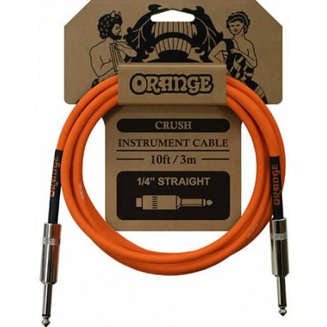 Orange Câble instrument 3 m droit/droit