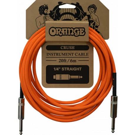 Orange Câble Instrument 6 m Droit/Droit