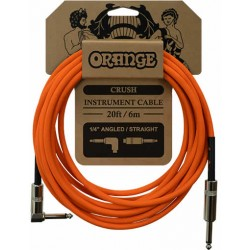 Orange Câble Iinstrument 6 m Coudé/Droit