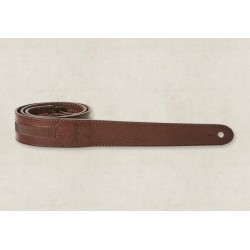 Taylor Courroie Slim Leather Chocolate Brown 1.5""