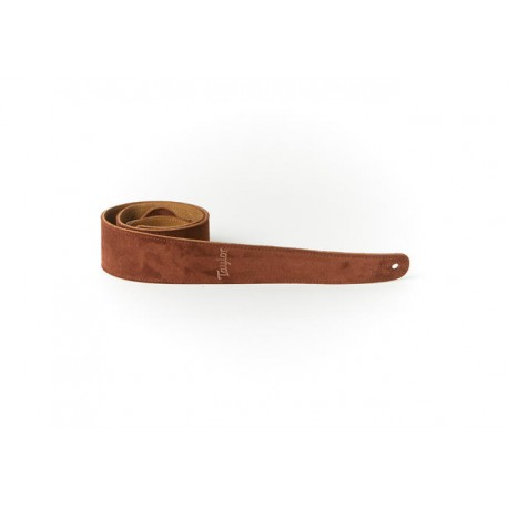 """Taylor Courroie Chocolate Embroidered Suede 2.5"""""""