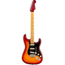 Fender American Ultra Luxe Stratocaster MN Plasma Red Burst