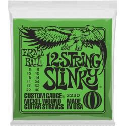 Ernie Ball 2230 Slinky 12 cordes 8-40