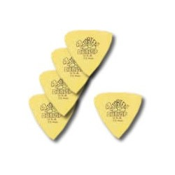 5 Médiators Tortex Triangle Souple/Médium Jaune