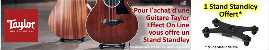 Pour l'achat d'une guitare Taylor, Effect On Line vous offre un stand Standley