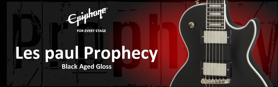 Epiphone Les Paul Prophecy Black Aged Gloss - Effect On Line